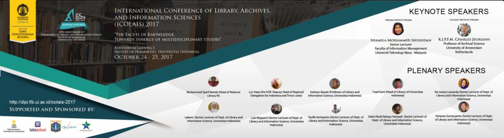 ICOLAIS 2017 Departemen Ilmu Perpustakaan dan Informasi Fakultas